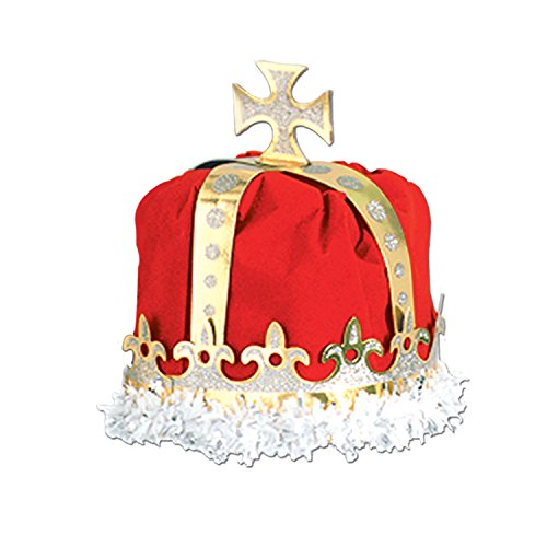 Beistle - 66109-R - Royal Kings Crown-Packung mit 12 St-ck -