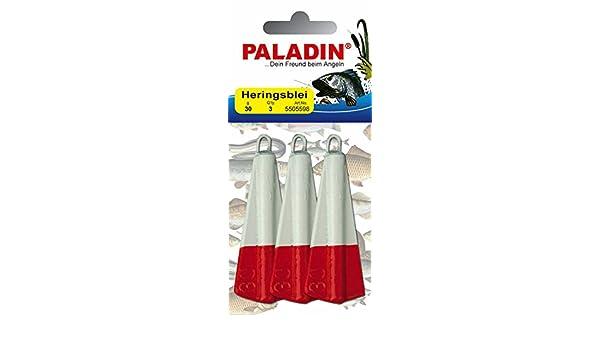 Weiß 30g PALADIN Heringsblei 2-farbig 1 Stück Rot