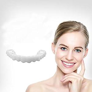 Myhonour Zähne Prothese Zähne Kosmetik Temporäre Lächeln Comfort Für ein perfektes Lächeln,Eine Grösse passt allen