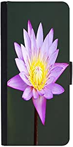 Snoogg Beautiful Purple Waterlily In A Pond Designer Protective Phone Flip Case Cover For Samsung Galaxy Grand Neo