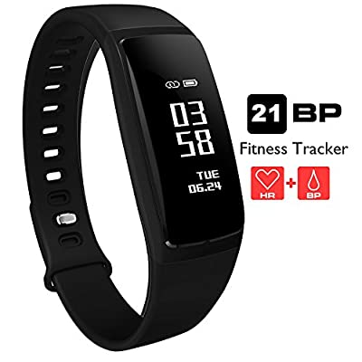 AUPALLA Fitness Trackers, 21BP Smart band Activity Trackers With Blood Pressure Measure Heart Rate Monitor Sleep Monitor Pedometer Calories Track Stopwatch ONLY Support iPhone Android Smartphone from AUPALLA