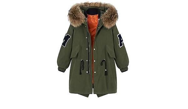 YRF Damen Gefüttert Mantel Übergröße Langarm Polyester