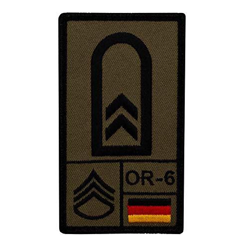 Café Viereck ® Oberfeldwebel Bundeswehr Rank Patch mit Dienstgrad - Gestickt mit Klett - 9,8 cm x 5,6 cm