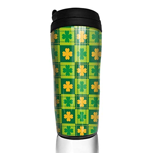 Travel Coffee Mug Happy St. Patrick's Day 12 Oz Spill Proof Flip Lid Water Bottle Environmental Protection Material ABS