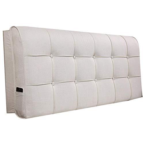 Lixiong cuscino testiera di lino cuscino del letto morbido con/senza testiera letto matrimoniale pad lombare dello schienale di grandi dimensioni rimovibile e lavabile, 7 colori
