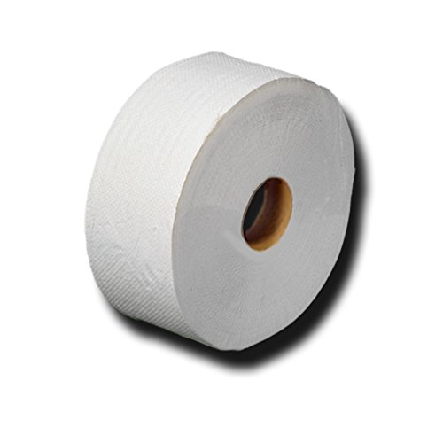 Jumbo Toilettenpapier, Großrollen, Jumborollen, Toilettenpapier, Recycling, 2-lagig, ca. 60% Weiße, Länge ca. 360m, Durchmesser: ca. 26cm, reißfest, soft