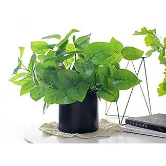 SUXIAO Planta Verde Ramo de árboles Begonia Artificial Hoja Planta Material de Pared Plástico Hierba para la decoración del hogar