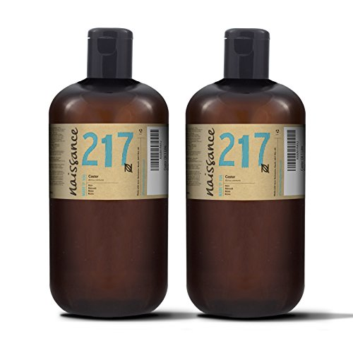 Naissance kaltgepresstes Rizinusöl 2 Liter (2 x 1000ml) - vegan, hexanfrei, gentechnikfrei