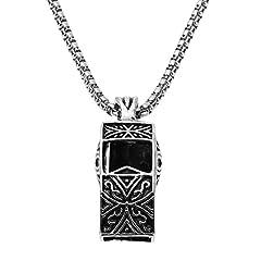 Idea Regalo - Prosperveil vintage unisex moda lega catena pendente collane a forma di fischietto