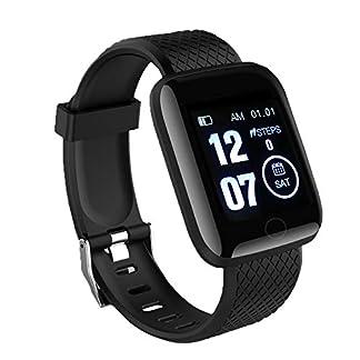 LEEBA Reloj Pulsera Inteligente, rastreador de Actividad física,Pantalla a Color Ritmo cardiaco Presión sanguínea Vigilancia IP67 a Prueba de Agua
