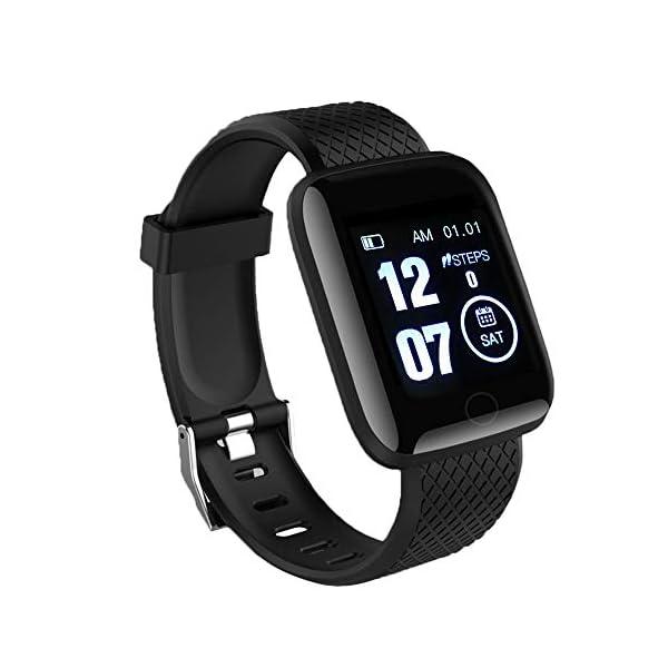 LEEBA Reloj Pulsera Inteligente, rastreador de Actividad física,Pantalla a Color Ritmo cardiaco Presión sanguínea… 1