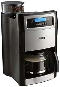 princess 249403 cafeti re filtre programmable moulin caf int gr noir inox. Black Bedroom Furniture Sets. Home Design Ideas