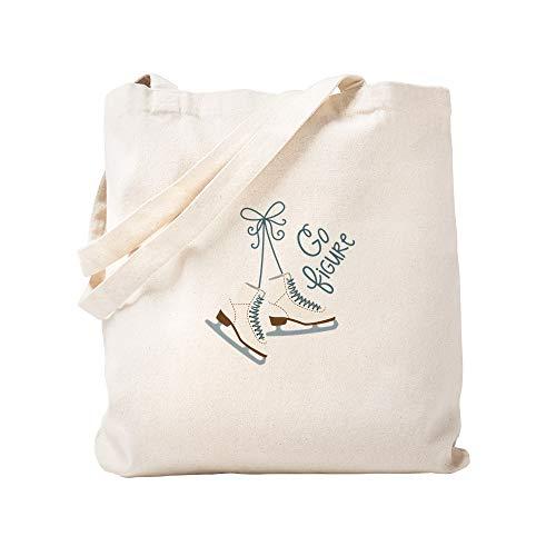 CafePress Go Figure Einkaufstasche aus Leinen, naturfarben