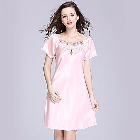 Donna pezzo vintage di seta camicia da notte Nightgown home