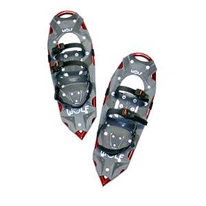 Wolf Vulcano Schneeschuhe, Herren Allround Schneeschuhe bis 115kg, Sportschneeschuh ohne Steighilfe durch intelligent positionierte Achse, Alpinschneeschuh aus Alu-Rahmen u. reißfester Bespannung