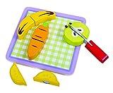 Tooky Toy - Frutas y verduras de madera. Juguetes educativos a partir de 18 meses