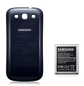 Samsung Original Akkublock mit Gehäuserückseite EB-K1G6UBUGSTD (kompatibel mit Galaxy S3 / S3 LTE) in pebble-blue