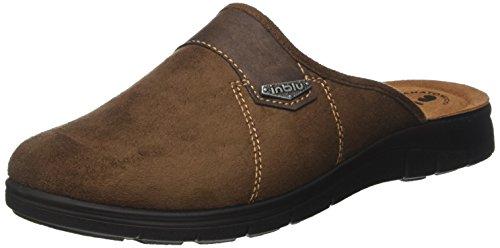 INBLU Bg000018, Pantofole Aperte sulla Caviglia Uomo Marrone (Testa Di Moro)