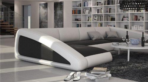 Sam Sofa Garnitur Schwarz Weiß Weiß Ciao Rechts 205 X 355 X 250