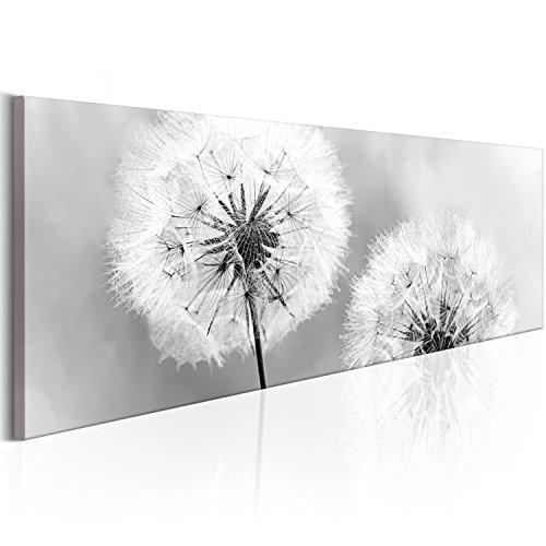 murando Bilder Pusteblume 135x45 cm - Leinwandbilder - Fertig Aufgespannt - Vlies Leinwand - 1 Teilig - Wandbilder XXL - Kunstdrucke - Wandbild - Blumen Natur grau Pusteblumen b-B-0223-b-b