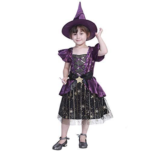 GXYCP Halloween-Rolle, Die Himmel-Stern-Hexe-Kostüm-Mädchen-Ball-Tanz-Leistungs-Set -