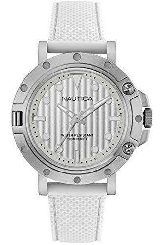 Nautica NST 800 Gent's Montre Homme Analogique Quartz avec Bracelet Silicone NAD12548G