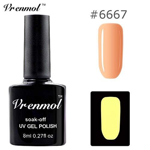 Nagellack im Dunkeln glänzen, Ungiftiger Nagellack 18 Farben Neon Neon Gel Nagellack Watopi -