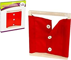 Eduedge Montessori Materials Exercises of Practical Life - Large Buttons Frame
