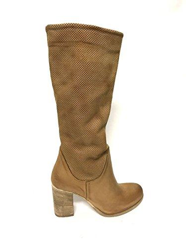 113ee176 ZETA SHOES - Botas de Piel para mujer * marrón Size: 40