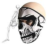 Masque Cagoule Moto Coupe Vent Tour de Cou Nez Oreille Protection Solaire Réglable Masque Bouche Visage Sport Chaud Anti-poussière/froid pour Halloween Vélo Cyclisme Ski VTT Camping Chasse Pêche