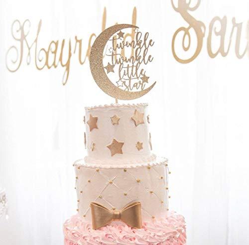 le Star Tortenaufsatz für Babyparty Dekoration Mond und Sterne Baby Shower Kuchen Dekoration Mond Kuchen Topper Gender Reveal Party ()