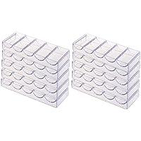 SGerste 10 Stück Pokerchips Tablett Acryl Box 100 Chips Container Organizer Halter für Party Casino Poker Karten Spiele Supplies