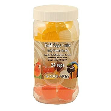 Assorted Fruit Cups – Jelly Parrot Treats – Tub of 24
