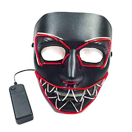 PIYTNK Halloween EL MASK leuchtende Katze Maske Kostüm Maske für leuchtende Tanz Karneval Party Masken Dekoration (Tanz Katze Kostüm)
