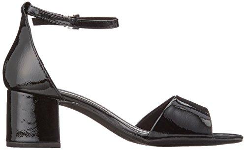 Marco Tozzi 28316, Sandali con Cinturino Alla Caviglia Donna Nero (Black Patent)