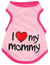 "SAMGU ""I Love Mommy""T-shirt sans Manches en Coton pour Animaux Pet cat Chiens"