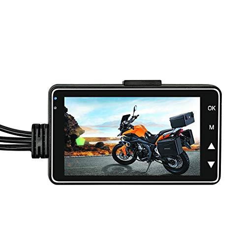 True-Ying Mountainbike-Aufzeichnungskamera, Videorekorder, HD 1080p DVR, Motorrad Dashcam mit spezieller Dual-Spur-Rück-Recorder, Motorrad Action Sport Wasserdichte Kamera True Hd-lcd-display