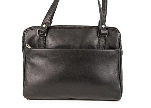 Messenger Bag Di Nova Leathers Diana Donne One Size Nero