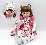 ZIYIUI Reborn Baby Doll Realistic Reborn Baby Dolls Realistico Morbido Silicone Vinile Bambino Regalo di Compleanno Regalo di Natale Regalo di Natale Magnete Gratuito Bambole 47cm