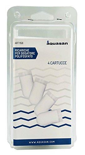 AQUASAN 1158-Notebook Dispenser für Kessel, Weiß, Set von 4Stück (Kessel Dispenser Wasser)