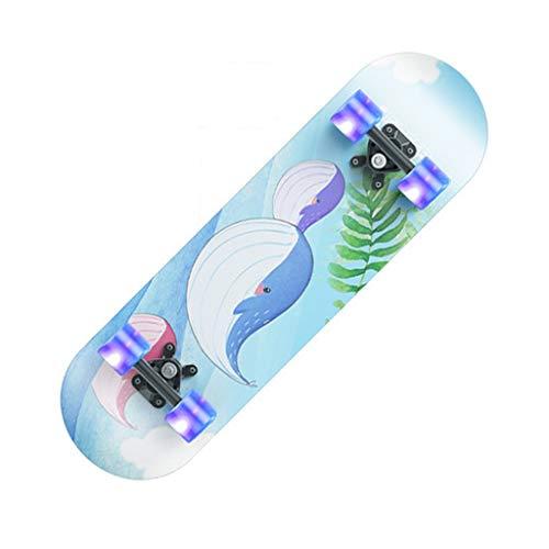 YXLZZO Zweirad-Roller für Anfänger und Jugendliche für Erwachsene, Allround-Double-Warping-Shortboard für Erwachsene, 20 × 80 cm (Farbe : C)