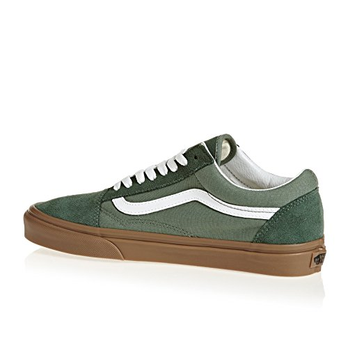 Vans Old Skool, Chaussures de Running Mixte Adulte Vert (Duck Green/gum Q9v)