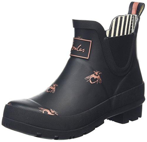 Joules Wellibob, Stivali di Gomma Donna Nero (Black Love Bees)