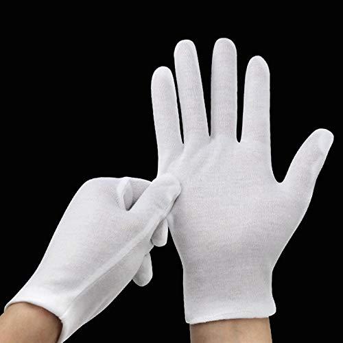 DIODIOR Handschuhe 6 Pairs White Jobs Handschuhe Inspektion Baumwolle Arbeitshandschuhe Schmuck Leichte Qualität, M