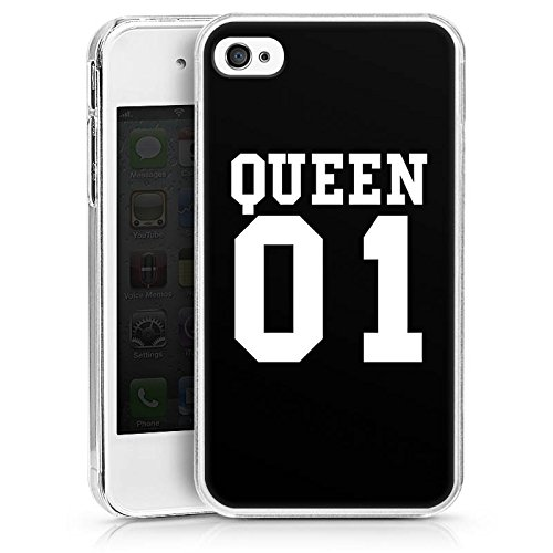 *Apple iPhone 4s Hülle Case Handyhülle Queen 01 Koenigin Paerchen*