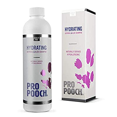 Pro Pooch Oatmeal Dog Shampoo | Natural, Hypoallergenic & Fragrance Free | Contains Colloidal Oatmeal, Aloe Vera & Pro Vitamin B5 | For Sensitive, Itchy Dogs with Dry Skin (250 ml) by E&L Enterprises Ltd