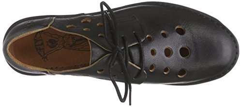 FLY London Damen Deve436fly Derby Schwarz (Black 000)