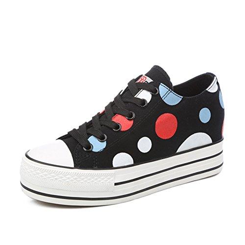 Estate scarpe di tela/Versione coreana dei pattini della piattaforma estate/Sneaker moda casual traspirante/Punto corrente-D Lunghezza piede=24.3CM(9.6Inch)