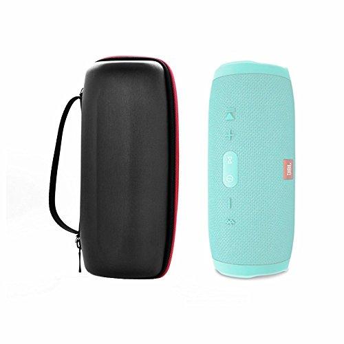 Hensych Schwarze Tragetasche Cover Travel Zipper Case für JBL Charge 3 Portable Bluetooth Lautsprecher (Hard Bag) 3 Hard Case Travel Cover