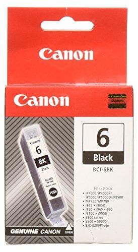 Canon Bci-24 Black Tinte (Canon BCI-6 original Tintenpatrone  Schwarz für Pixma Inkjet Drucker iP4000-iP4000R-iP5000-iP8500)